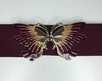 vintage butterfly belt buckle