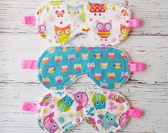 Party Favor - Sleep Mask - Owl Sleep Mask - Eye Mask - Sleeping Mask - Sleepwear - Travel Eye Mask - Easter Basket Filler - Valentines Gift