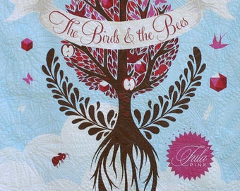 Tula Pink Signed BIRDS & BEES quilt back