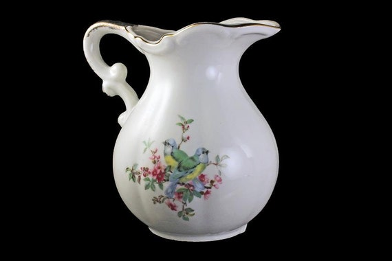 Pitcher, Jug, Inarco China, Japan, Water Pitcher, Water Jug, Syrup Pitcher, Bluebird Pattern