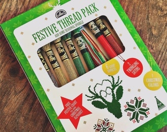 Reduced! On Sale! DMC festive Thread Kit, Light Effects, Coloris and Satin - was 12.95, now 8.00