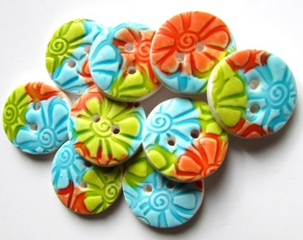 Tropical Holiday Buttons