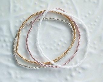 Tiny seed bead bracelets