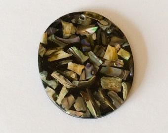 Abalone shell pendant oval