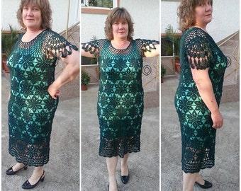 FEMMES robe élégante / Crochet main /sur commande
