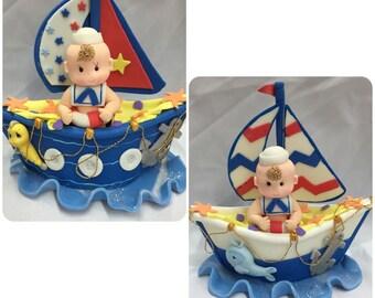 Sailor theme cake topper, party decor, center pieces