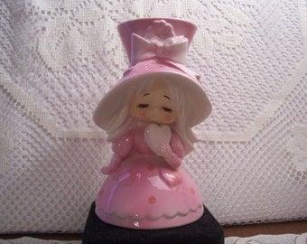 Rare HTF Lefton Valentine Girl Vase, Japan
