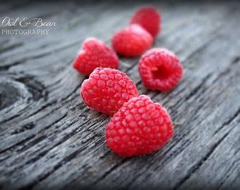 Raspberries, Greeting Card, Blank Inside, Fine Art Photography, Food, Kitchen Art, Home Decor