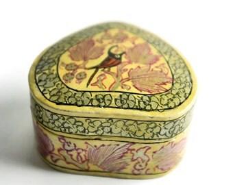 Vintage hand-painted trinket or jewellery box