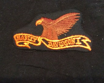 Vintage Harley Davidson eagle sew on biker patch