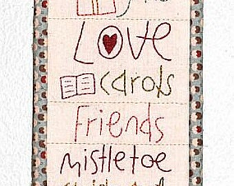A Christmas List  by The Birdhouse pattern only