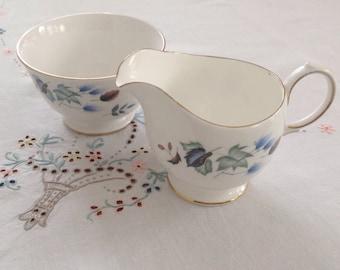 Colclough milk jug and sugar bowl.