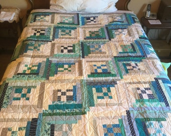 Cool Cabins Handmade Quilt