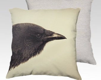 """Crow Portrait Photographic Pillow (18"""" x 18"""" and 22"""" x 22"""")"""