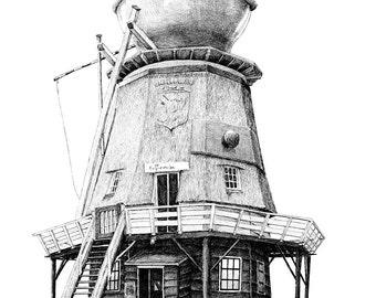 postcard Coffee/mill