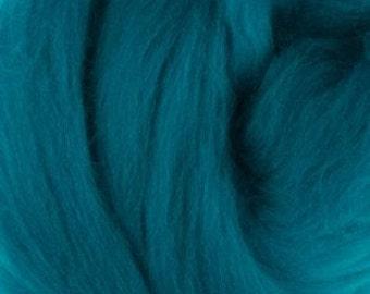 Merino silk roving, Cobalt, 100 grams/3.5 oz
