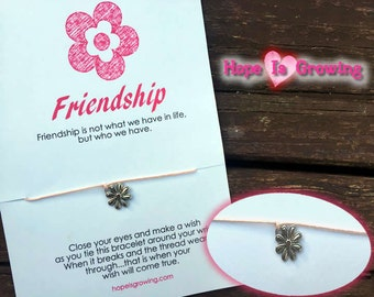 Friendship Wish Bracelet and Greeting Card