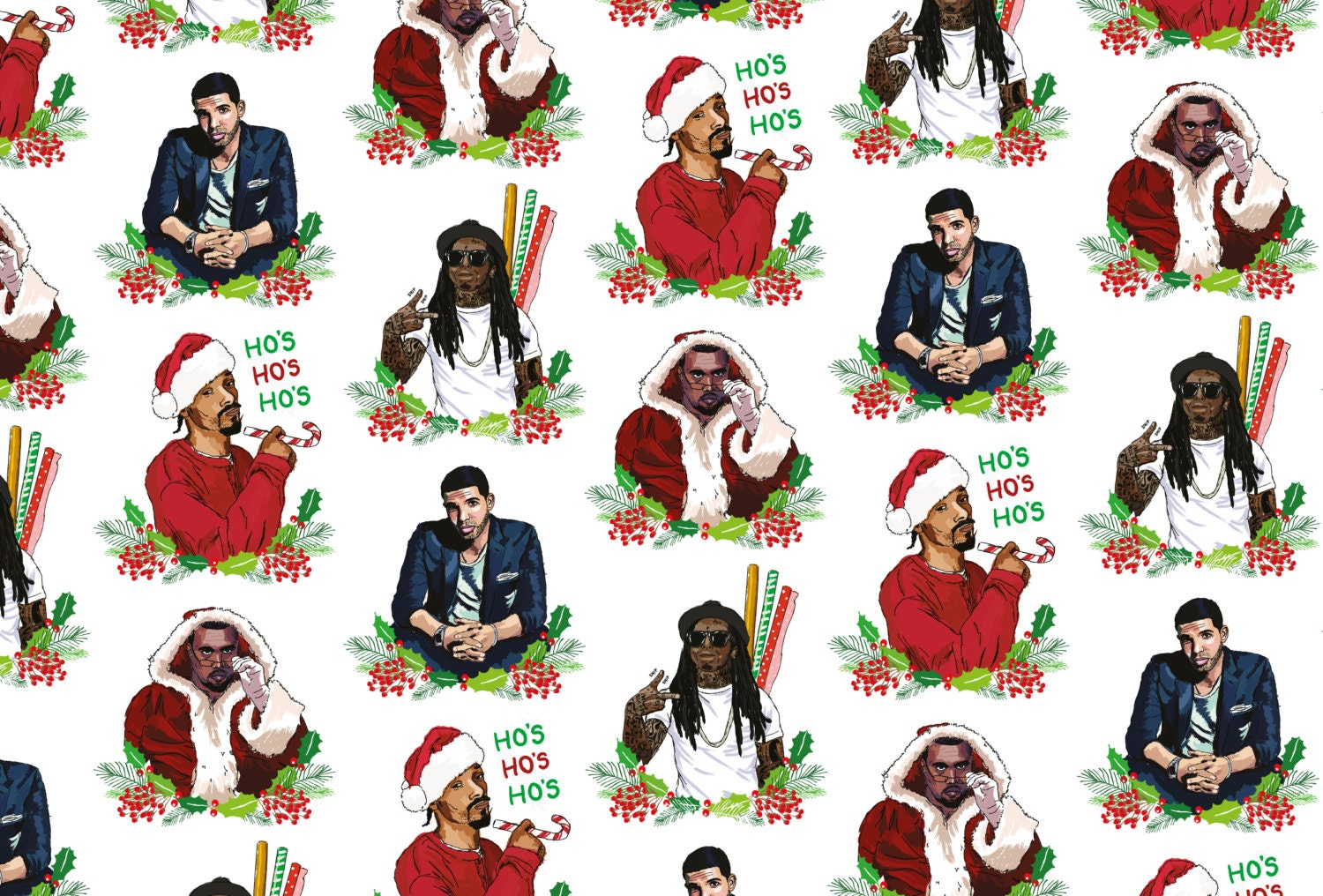 Rapping Paper Kanye West Drake Lil Wayne & Snoop Dogg A2
