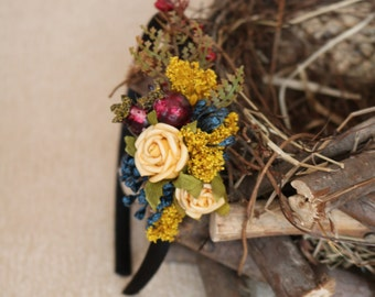 Autumn headband - Yellow