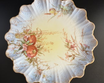 Doulton Burslem Cabinet Plate Hand Painted Floral Earthenware  1800s