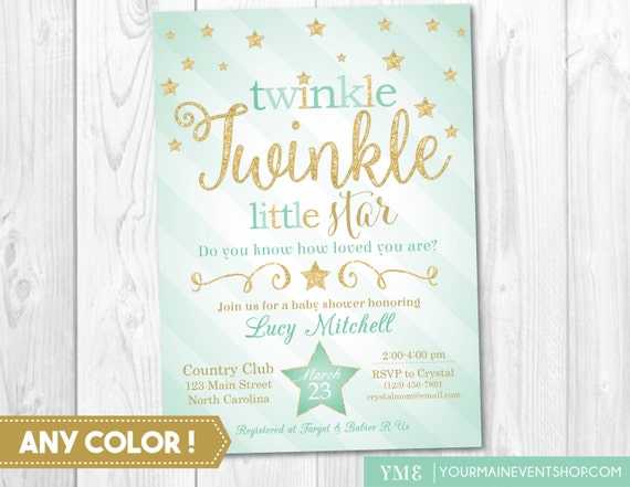 Twinkle Twinkle Little Star Baby Shower by YourMainEventPrints