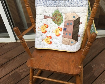 Vintage wood  childs rocker