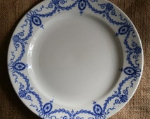 Keeling & Co Losol Ware Blue and White Luncheon Plate c1910