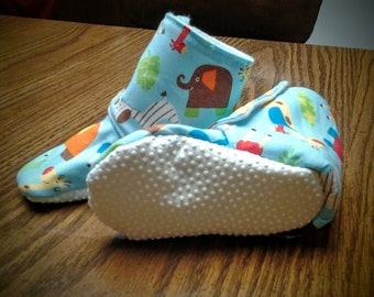 Babies' Stay On Booties with Non-Slip Soles