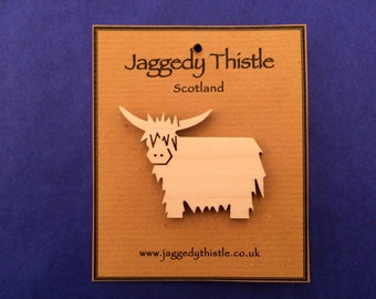 Highland Cow (Coo) - Badge / Brooch
