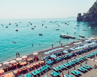 Amalfi Coast, Positano Print, Positano Photograph, Positano, Italy Home Decor, Italy Print, Beach Print, Beach Decor, Positano Beach