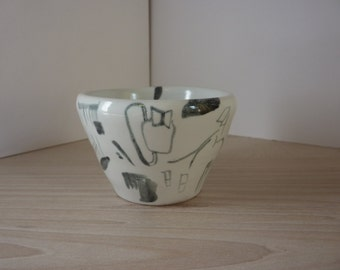 Ceramic pot, wheel-thrown, pottery