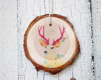 Buck Wood Ornament