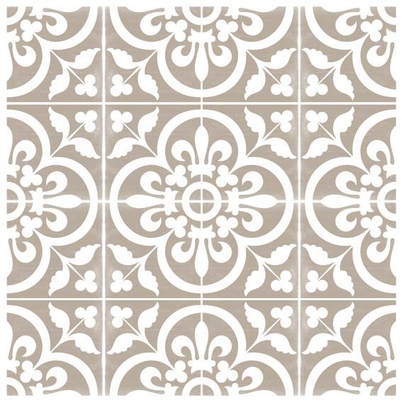 vinyl floor tile sticker floor decals carreaux ciment encaustic corona tile sticker pack in. Black Bedroom Furniture Sets. Home Design Ideas