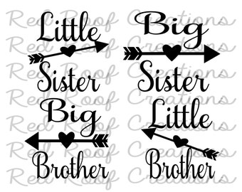 Big Sister and Little Sister SVG // Big Brother and Little Sister SVG //