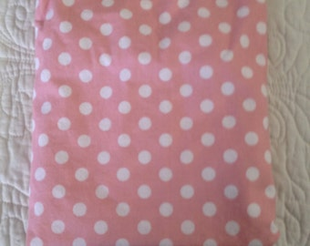 Pack & Play Sheet - Pink with White Dots