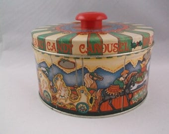 Wolfgang Candy Carousel Collectible Tin