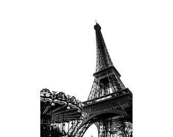Eiffel Tower Wall Art, Paris Black and White photography, Eiffel Tower Print, Paris Bedroom Decor, Fine Art Photograph, Paris Decor