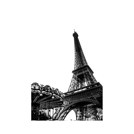 Items similar to eiffel tower wall art paris black and for Eiffel tower wall mural black and white