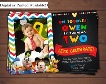 Mickey Mouse Invitation, Mickey Mouse Birthday Invitation, Mickey Mouse Clubhouse Invitation