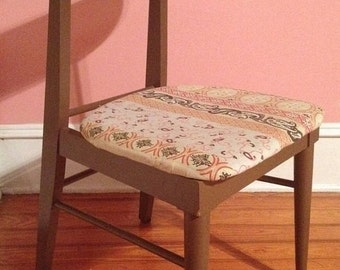 Valentines Sale Vintage Mid Century Modern Danish Painted Walnut Side Desk Chair Mid Century Modern
