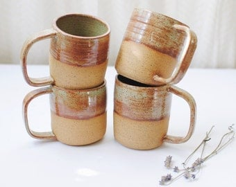 Handmade Ceramic Shino Green Mug