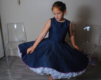 Child dress in jeans