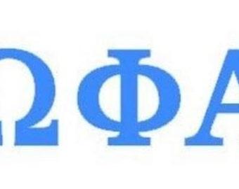 Sorority Greek Letter Decal Omega Phi Alpha