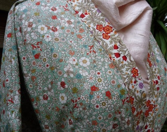Patterned Cotton Kimono Robe