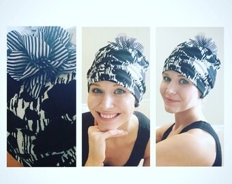 Mixed Pouf Chemo Hat