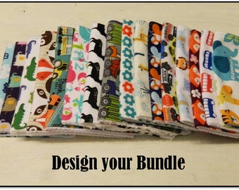 Baby Burp Cloth Set- Pick 2, Pick 5, Pick 10... as many as you want