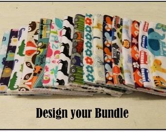 Baby Burp Cloth Set- Pick 2, Pick 5, Pick 10... as many as you want