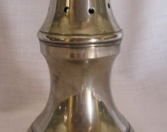 Silver Plated Salt Shaker Footed