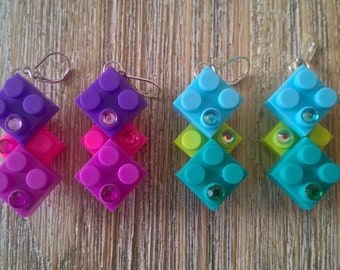 Convertible block earrings
