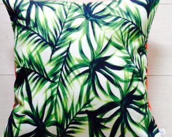 Beautiful Tropical Print Cushion Cover